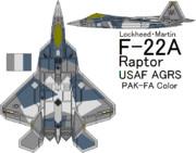 """F-22A Raptor USAF Aggressor """"PAK-FA"""""""