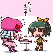 ホッシーワのクッキーを一緒に食べるなおちゃん