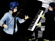 【MMD楽器選手権】ピアノとバイオリン