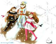 【DQ10】 ルコリア、フィーロ、リゼロッタ とある雪の日