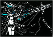 【切り絵】ブラックロックシューター