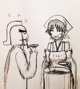 ※向こうで鳳翔さんと金剛ちゃんが物凄い顔で見てます。
