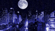 ライト版追加【MMDステージ配布】都市夜景G4_Ver1.4 【スカイドーム】