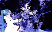 ミクさんと樹氷を見に来ました。3