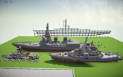 今までに作った艦船ども。