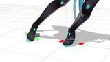 【MMD】足首の角度を表示するだけのアクセサリ【MME】