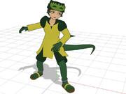 【非物理演算】尻尾が体の動きに合わせて勝手に動くモデルを配布してみます。