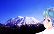 ミクさんとくじゅう連山を眺めに来ました。2(三俣山)