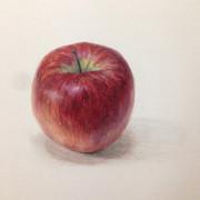 りんご水彩