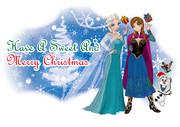 アナ雪クリスマスカード作ってみましたー、けど