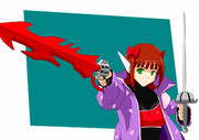 緋色の魔法少女のハルカ