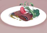 ゴジラ肉のバイオ怪獣の花弁包み蒸し 希釈溶解液ソース