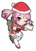 綾波型駆逐艦9番艦 サンタ漣 「ケーキ、ウマー!」