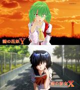 謎の花妖Y vs 謎の彼女X