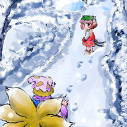 雪道 帰り道