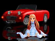 【MMD】レア様とオープンカー【カニ目】