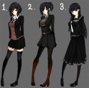 髪型&制服 3バージョン