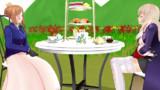 二人でお茶会!