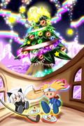 今年のクリスマスイブは二人でツリーを眺めて