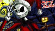 メリクリついでにナイトメアー・ビフォア・クリスマスのジャック・スケリントン描いてみた。