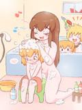 AZSくんの頭を洗ってあげるKNN姉貴