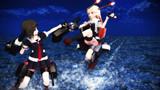 【MMD艦これ】時雨と夕立の姉妹喧嘩