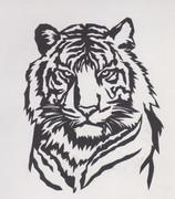 【切り絵】トラ