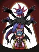紅い悪魔と黒き龍