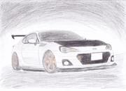 BRZを描いた。
