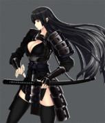 黒髪女武者