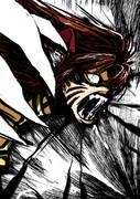 窮狼虎を穿つ