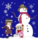 雪だるまと蓮メリ+C87新刊委託始まりました!