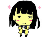 桜田麻音ちゃんをペイントで描いてみた。