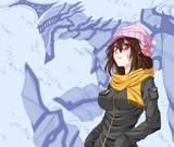 冬着の女の子