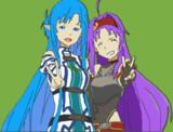 【minecraft】ユウキ&アスナ【ドット絵】