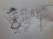三大魔法使い達を花子さん風に描いてみた