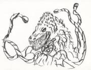 【筆ペン】ビオランテ【一発描き】