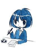 【ラクガキ】万年筆インクで描くイラスト1