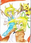 大妖精とウィンとプチリュウ