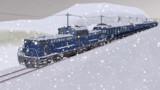 雪景色の中を行く「急行まりも」