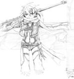 SAO シノン 模写