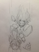 【落書き】特に理由のない北方棲姫が龍驤を襲う!!