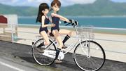 スクミズで自転車