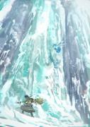 氷瀑の探検