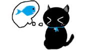 ブルーリボン黒ちゃんとさかな