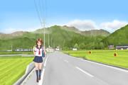 夏の通学路