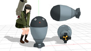 【MMD】酸素魚雷どん【モデル配布あり】