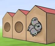 図1. 鳩の巣原理の極端な例