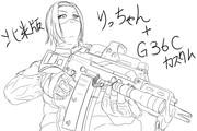 田井中律とG36Cカスタム(未)