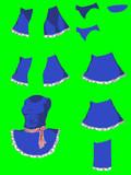 筋肉SKRNBU姉貴 スカートを広げるためのパーツ